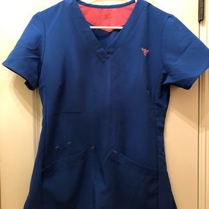 Royal Blue Med Couture Scrub top